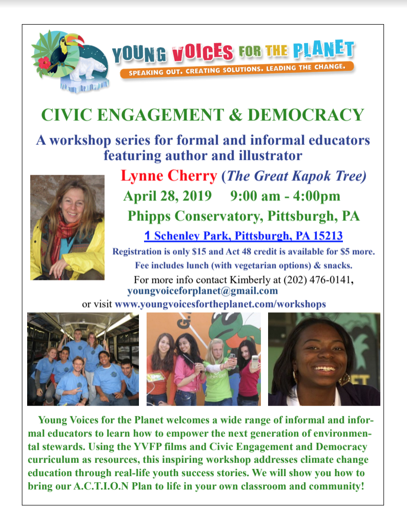 YVFP Civic Engagement & Democracy Educator Workshop - Phipps Conservatory, April 28, 2019