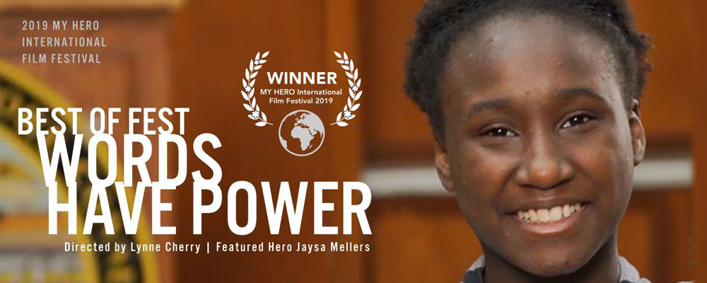 YVFP Film, Words Have Power, Best of Fest Award, My HERO International Film Fest