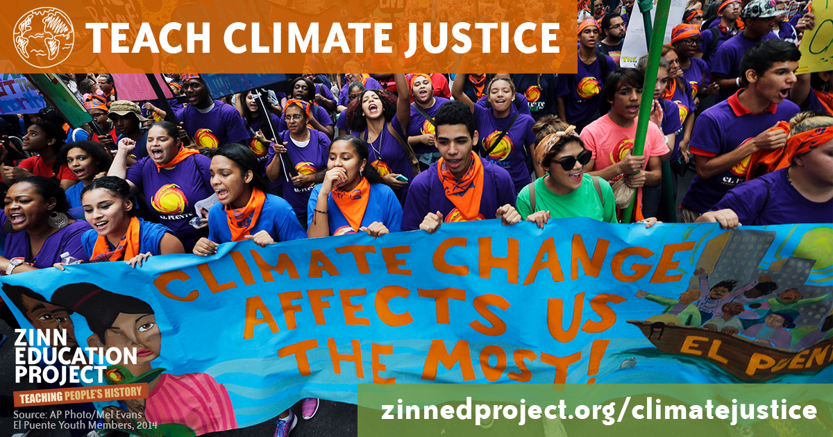 Zinn Education Project - Teach Climate Justice - Word Have Power - Jaysa Hunter-Mellers